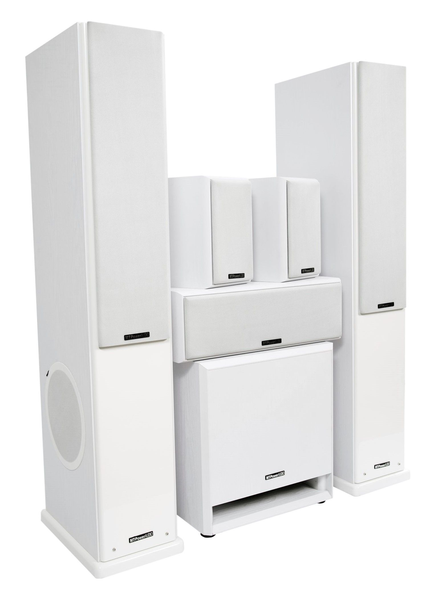 Комплект акустики MT-Power Elegance-2 white set 5.1 (white grills)
