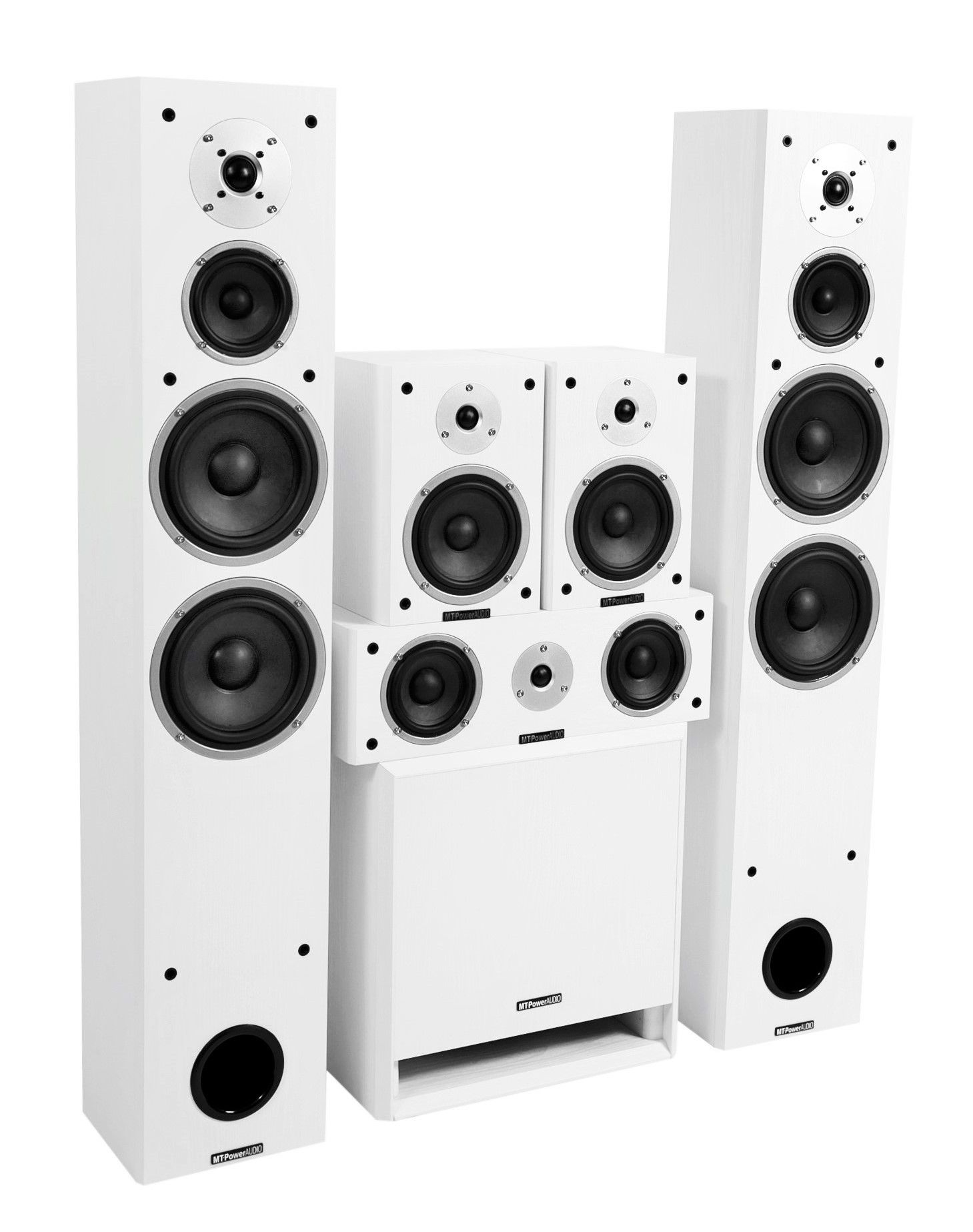 Комплект акустики MT-Power Performance XL white set 5.1