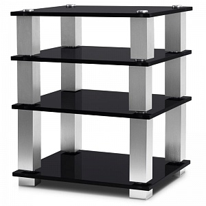 Стойка под Hi-Fi NorStone Square HiFi black glass/silver