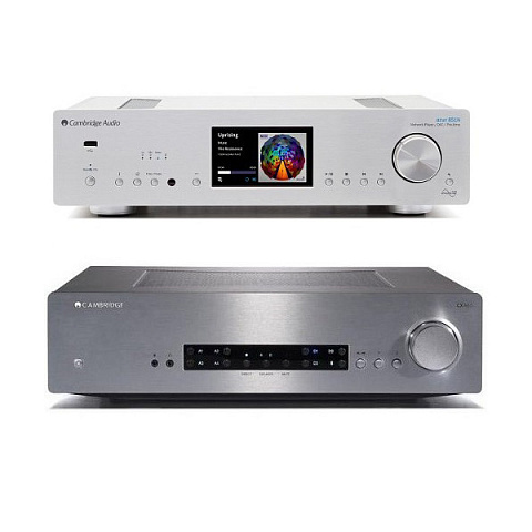 Стереокомплект Cambridge 851N + CXA60 silver